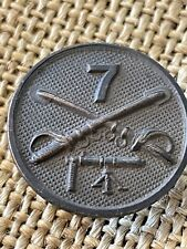 WWI US 7th Cavalry MG Collar Disc Original