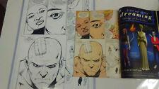 TRANSMETROPOLITAN # 46 Pg.14 ORIGINAL PUBLISHED ART with bonus sketch on back +