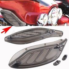 Smoke Side Windshield Adjustable Fairing Wind Creens Deflectors For Harley Glide