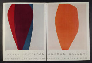 1963 Lorser Feitelson paintings Ankrum Gallery Los Angeles vintage print Ad