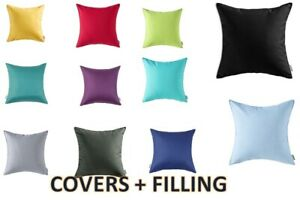 NEW Waterproof Garden Cushion COVERS FILLED 18X18 24X24 INCHES Outdoor Indoor
