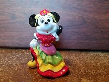 MINI MOUSE Dancing Disney Glass Figurine 3 In Used no chips Disney Copyright