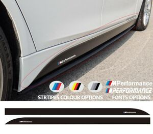 Compatible with BMW 3 M PERFORMANCE Side Skirt Vinyl STICKER for F30 F31 models