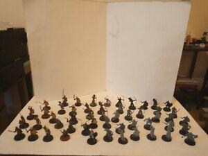 50 Warhammer LOTR & Fantasy Figures,Some Nicely Done,Rohan,Uruk Hai etc, Good!
