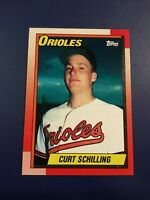 1990 Topps # 97 CURT SCHILLING Baltimore Orioles Set Break Sharp LOOK !