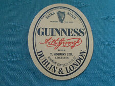 VINTAGE GUINNESS EXTRA STOUT PAPER LABEL - TOM HOSKINS BREWERY LEICESTER