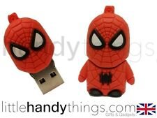 Dibujos animados lindo Spider Man Usb 8 Gb Flash Drive Memoria pen/stick Regalo Llavero