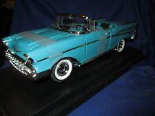 1957 chevy 57 belair mint RESTORED blue ERTL excusive  version very nice 1/18
