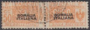 ITALY SOMALIA Pacchi Sassone n. 5  used  cv 200$