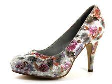 """Tamaris Womens UK 5 EU 38 Floral Print 3.5"""" High Heel Low Platform Court Shoes"""