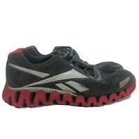 Reebok ZigTech Mens Gray Red Running Lace Up Athletic Shoes Sneakers Size 12