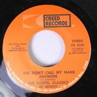 Black Gospel Unplayed 45 The Gospel Classics Of Detroit - She Don'T Call My Name