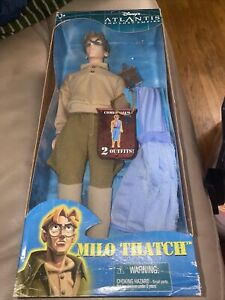 """Disney Atlantis Lost Empire Milo Thatch 12"""" Doll Figure with 2 outfits NEW"""