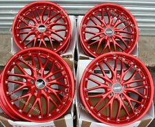 "Alloy Wheels 18"" 190 For Audi A3 S3 A4 S4 Cabriolet B5 B6 B7 B8 B9 5x112 Red"