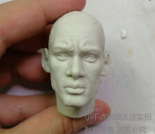 Free Shipping 1/6 scale Head Sculpt blank Hot Will Smith Man In Black unpainted