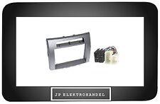 Einbaurahmen für TOYOTA COROLLA VERSO 2004 ->  Silber Radioblende 2DIN + ISO