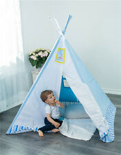 Kinderspielzelt Tipi Zimmerzelt Spielzelt Indianerzelt Spielhaus blau Ozean NEU~
