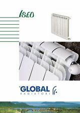 Radiatore Global Iseo 800 Prof.80 Bianco da 6 Elementi in alluminio