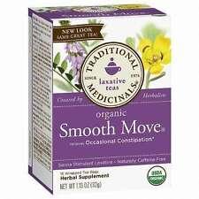2x Traditional Medicinals Organic Smooth Move Senna Stimulant Laxative Daily
