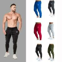 Mens Slim Fit Tracksuit Sport Gym Skinny Jogging Joggers Pants Trousers Swe E7Y8