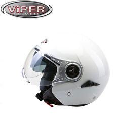 Caschi jet bianco scooter per la guida di veicoli