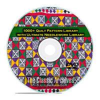 1000+ Quilt Pattern Library, Kansas City Star, +110 Needlework Books PDF DVD E62