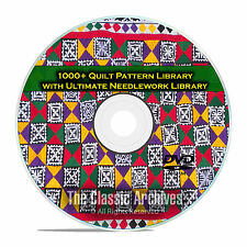 1000+ Quilt Pattern Library, Kansas City Star, +110 Needlework Books PDF DVD E62