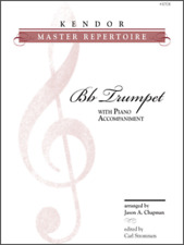 "Kendor-Master Repertoire ""TRUMPET"" MUSIC BOOK W/PIANO ACCOMPANIMENT-NEW ON SALE"
