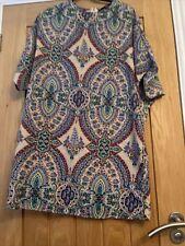 Mela Loves London Kimono Style Dress Size 10 Great For Holidays Festival Look