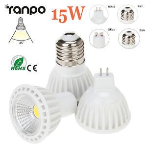 Dimmable 15W LED Bulbs Spotlight E27 E26 MR16 GU10 110V 220V 12V Lamp High Power