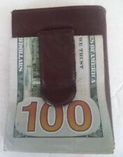 Van Heusen Exterior Genuine Leather Money Clip/Clamp