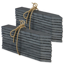 More details for set of 20 slate garden markers & chalk plant labels greenhouse stakes m&w