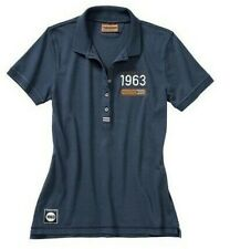 New Genuine Porsche Classic Collection Polo Shirt Blue Ladies Size Small