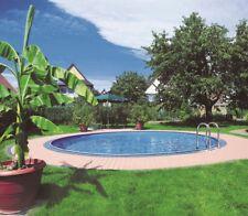 Stahlwandbecken Pool 3,50 x 0,90m mit Skimmerstanzung + Einlaufdüsenstanzung