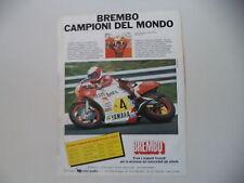 advertising Pubblicità 1984 BREMBO e EDDIE LAWSON e YAMAHA YZR 500 OW76