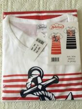 NEW RED Nightdress Tee Summer SAILOR / ANCHOR - S