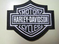 HARLEY DAVIDSON BAR & SHIELD VEST PATCH X-SMALL BLACK-WHITE-GREY*