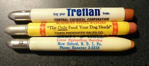 Vintage Bullet Advertising Pencil Lot of 3 Different Pencils Lime Spreading Svcs