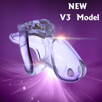 New Locking Design Male Biosourced Resin Chastity Device V3 With 4 Rings A380
