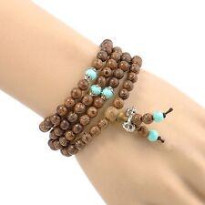 Mala Buddhist Bracelet 6mm 108 Beads Wenge Prayer Wood Tibetan Buddhist