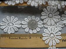 """3 yards Daisy Chain 2"""" Ivory Venise Lace bridal applique trim 12 petal off white"""