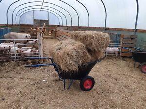 KOS-MET Wheelbarrow 300L Large stable yard Twin Wheel fully Assembled