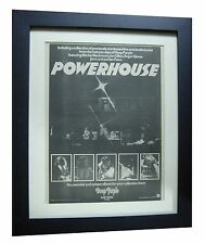 DEEP PURPLE+Powerhouse+POSTER+AD+RARE ORIGINAL 1978+FRAMED+EXPRESS+GLOBAL SHIP
