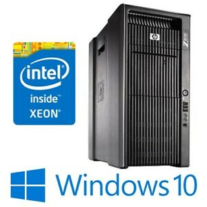 HP Z800 Workstation Dual Xeon X5560 48G 600G SAS Quadro 5000 Win 10 Pro