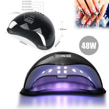 Black SUN5 Nail Lamp 48W UV LED Gel Nail Dryer Cure Manicure Pedicure Machine UK