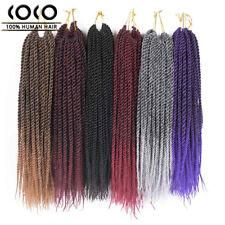 24'' Senegal Twist Crochet Braids Synthetic Hair Extensions Ombre Braiding Hair