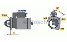 BOSCH Motor de arranque 1,1kW 12V RENAULT MEGANE NISSAN ALMERA 0 986 021 741