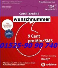 Vodafone Prepaid WunschNummer  prepaid sim-karte Rufnummer D2-Netz Neu !!!