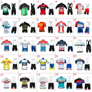 2021 Mens team cycling jersey bib shorts set cycling jerseys cycling bib shorts