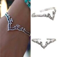 Bohemian Antique Silver Statement Charm Women Cuff Bangle Bracelet JewelryGiftS!